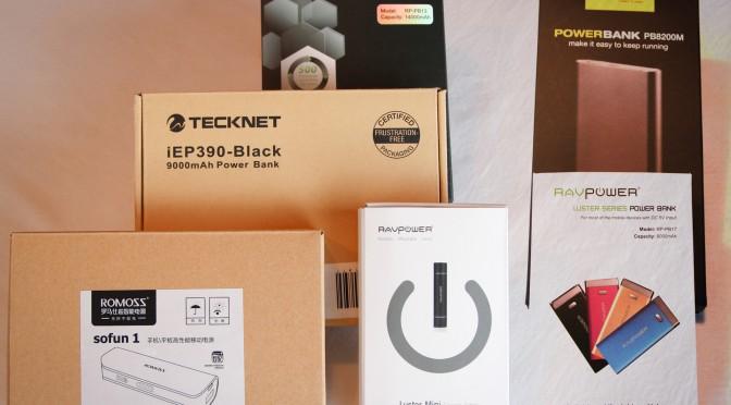 Test comparatif de batteries externe de recharge pour tablette, téléphone et Raspberry Pi