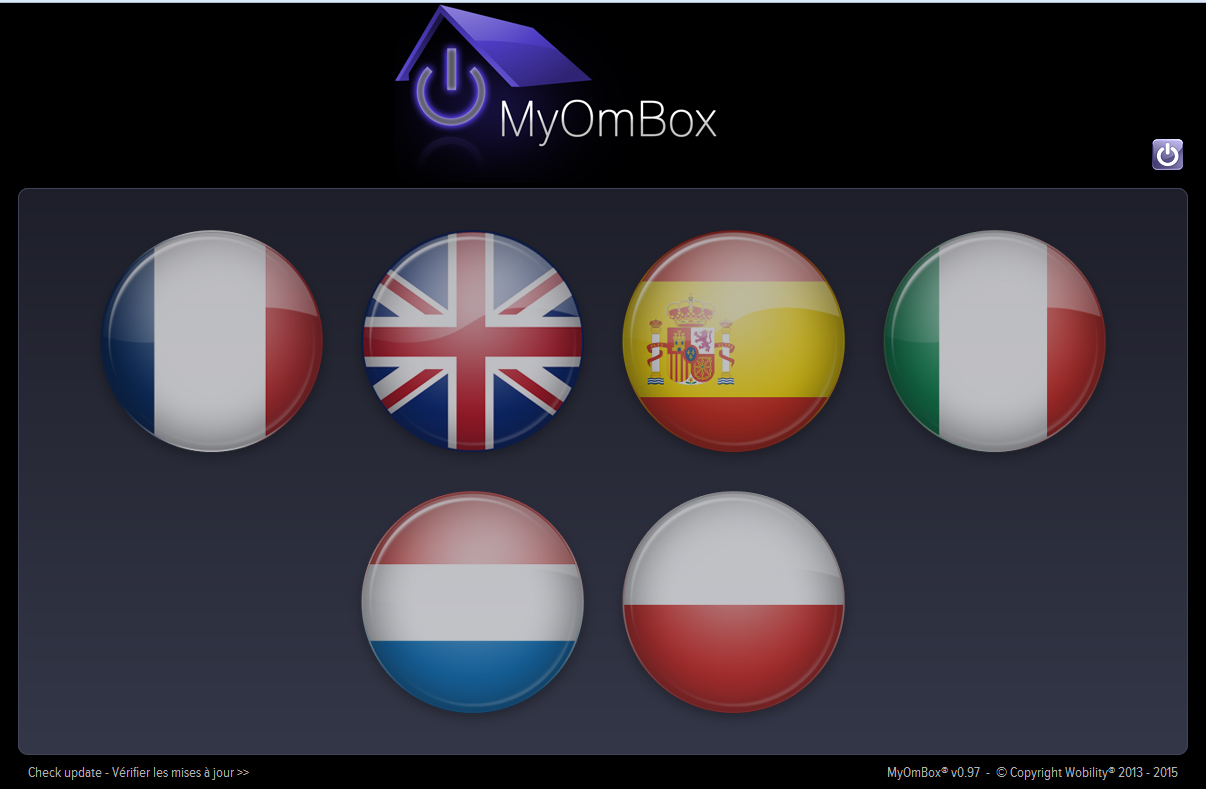 Myombox is available in 6 languages: English, French, Spanish, Dutch, Polish, Italian