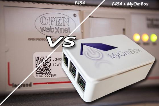 Comparatif d'une installation MyHome domotique avec et sans MyOmBox
