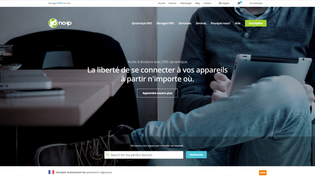 inscription sur site de redirection dns