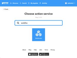 webhook déclencheur http ifttt
