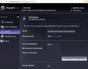 Trouver la clef API de sa MyOmBox