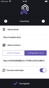 Nouvelle Application IOS myombox plug & play